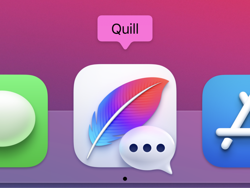 Quill Big Sur App Icon macos big sur app icon