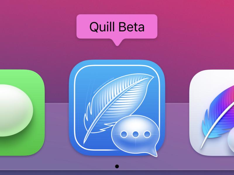 Quill Beta Big Sur App Icon macos big sur app icon