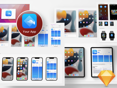 iOS 15 App Icon Template Freebie for Sketch template icon app ios