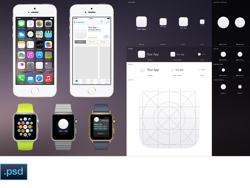 IOS App Icon Template 30 Ios Apple Watch