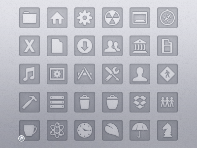 Etched: System replacement icon set for Mac mac icon set etched alpha inset sunken