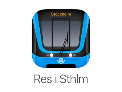 Res i Sthlm App Icon stockholm metro