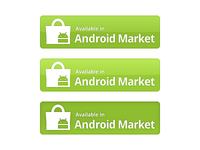 Android Market Button (PSD included)