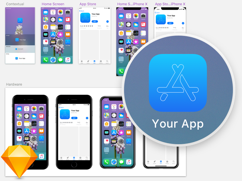 iOS 11 App Icon Template by Max Rudberg - Dribbble