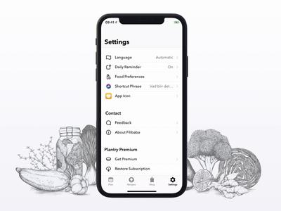 Food Preference app ios animation