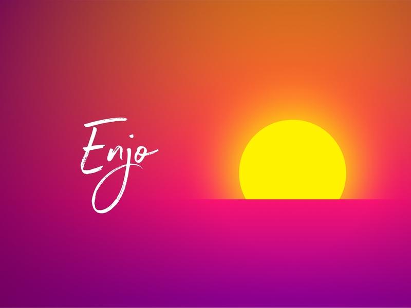 Enjo sunset branding app ios