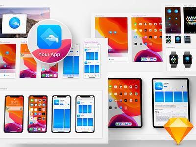 Free iOS 13 App Icon Template ios 13 template app icon ios