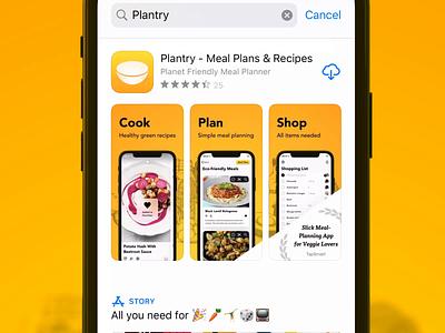 Plantry 3.3 App Store Screenshots ios branding app store marketing