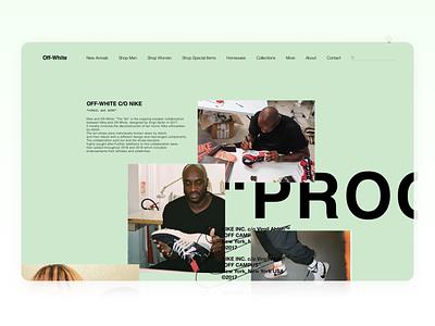"""""""OFF-WHITE"""" Site UX UI Design brand designer designs ux design ux  ui ux uxui ui  ux off logo design uxdesign uiux uidesign virgil abloh offwhite ui design ui"""