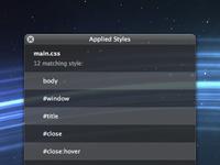 Mac OS X HUD window with CSS3