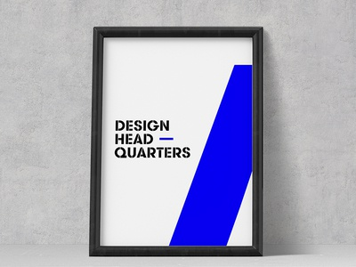 Office poster blue colorful accents stencil typography poster