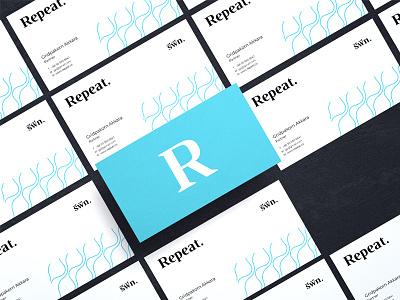 Repeat Identity typography name card logo identity brand identity
