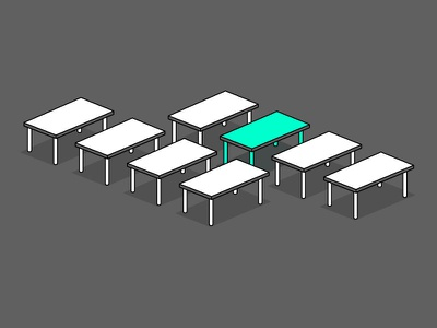 Just a table illustration icon