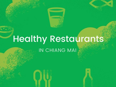 Healthy Restaurants icon vector typography poster illustration graphic texture grunge green