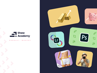 Product Imagery   Shaw Academy Rebrand 2020 card design product design ui design brand design composition graphic design