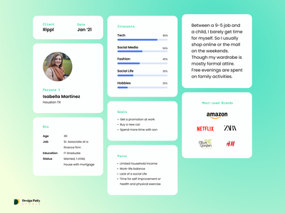 Rippl | eCommerce Buyer Personas personas planning discovery ux case study customers buyer person user persona persona