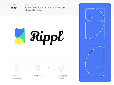Rippl Logo Design identity composition graphic design brand design logo design logo branding identity design golden ratio