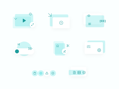 USP/Features Compositions web design composition graphic design icon set iconography icons