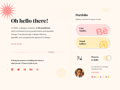 Personal Website - Theme Exploration #4 ui design personal website identity landing page portfolio composition graphic design web design
