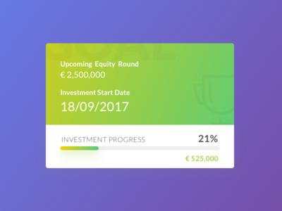 Progress Card UI | Crowdfund LP Element