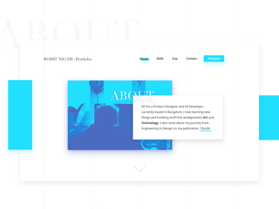 Personal Website 2017 - About Page