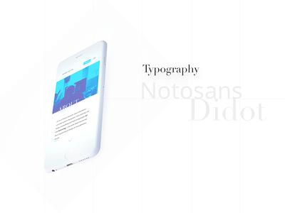 Personal Website 2017 - Typography & Colors duotones identity portfolio personal website minimal clean landing page gradients