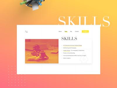 Personal Website 2017 - full visual design