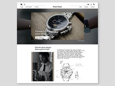 Wrist Watch adaptive design logo digital beauty web design clockwork white men fashion clocks style clock wrist watch