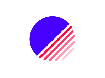 Personal Brand Logo - Colour brand personal stripes circle minimal logo