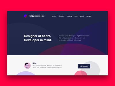 Jordan simpson website design v1