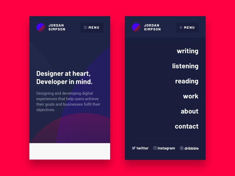 Jordan simpson website design v1 mobile