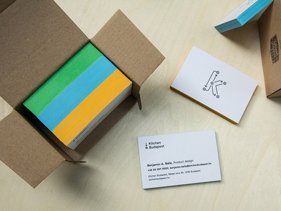 Business Cards for Kitchen Budapest kibu edgepaint letterpress design typography identity branding card business