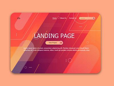pink page design ui