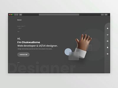 portfolio 3d glassmorphism portfolio web design website uiux