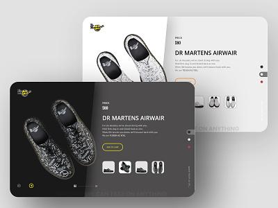 Dr martens e-shop shoe ecommerce ui dr martens
