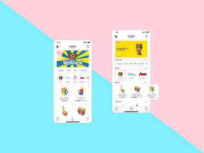 Toy Store App Concept adobe xd app product design product ui  ux design ui  ux ux design ux ui design ui
