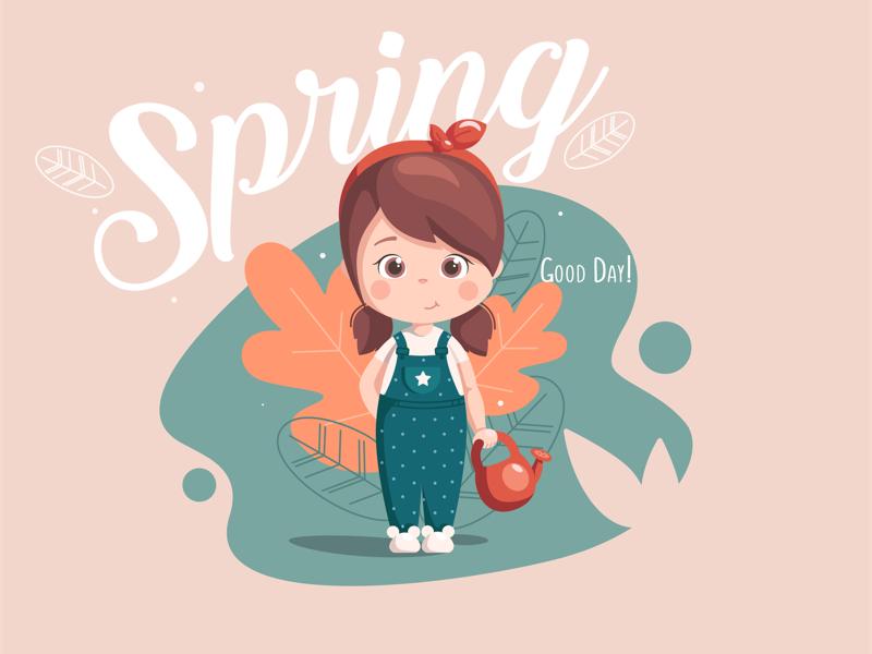 Pretty girl illustrator illustration character