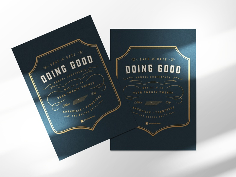 Doing Good 2019 Save the Date design invitation design save the date invitation