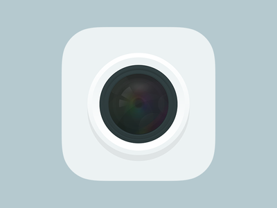 Flat Camera Icon icon flat camera semi-flat photo ios app white lens
