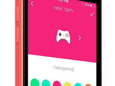 Select new item view ios ui flat app iphone icon picker ios7 color