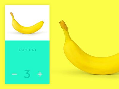 Color experiments - Banana ui cart add quantity yellow color banana