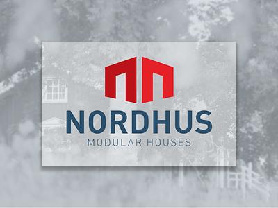 Nordhus building factory construction house modular design logo