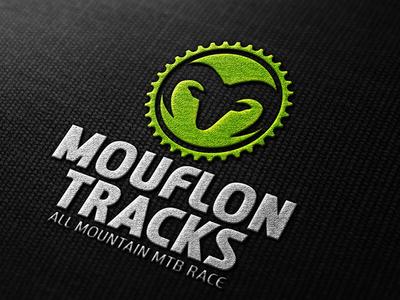 Mouflon Tracks sport icon race design brand logo