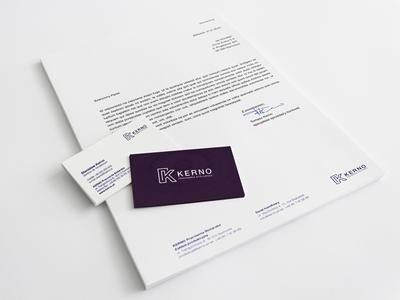 Kerno ID vol. 2 letterhead business card stationery design brand logo