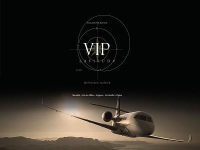 VIP Latitude france luxury vip aviation jet brand design print