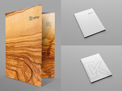 Kerno Folders material design marketing brands program cmyk folder print