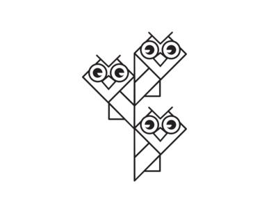 Owls maszkowski graficzny owl brand logo