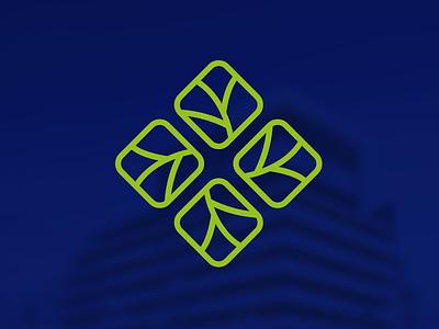 Eco Prime leaf construction eco logo