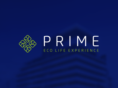 Prime Eco Life Experience maszkowski graficzny leaf construction eco logo