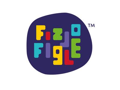 Fizjo Figle handmade letters maszkowski graficzny fun health kids spine logo